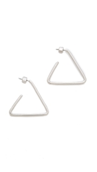 Marc By Marc Jacobs Triangle Hoop Earrings Argento