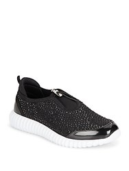 Kenneth Cole Dion Rhinestone Embellished Sneakers Black