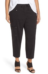 Plus Size Women's Eileen Fisher Crop Cargo Pants Black