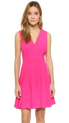 Rebecca Taylor Crepe V Neck Dress Orchid Pink