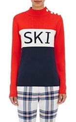 Tory Sport Women's Ski Compact Knit Sweater Navy