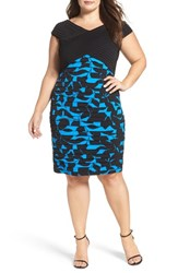 London Times Plus Size Women's Pintuck And Shutter Pleat Sheath Dress