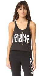 Spiritual Gangster Shine Light Arrow Racerback Tank Vintage Black