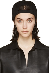 Mm6 Maison Margiela Black Canvas Small Cap