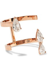 Repossi Serti Sur Vide 18 Karat Rose Gold Diamond Ring
