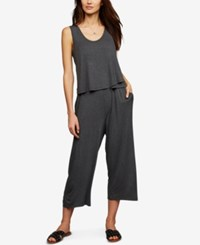 A Pea In The Pod Maternity Tiered Nursing Jumpsuit Grey
