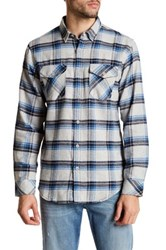 Burnside Long Sleeve Flannel Shirt Gray