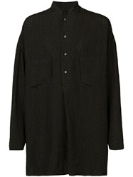Forme D'expression Embroidered Pullover Shirt Black