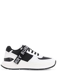 Burberry Logo Strap Ronnie Leather Sneakers Black