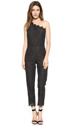 Madison Marcus Delicate One Shoulder Jumpsuit Black