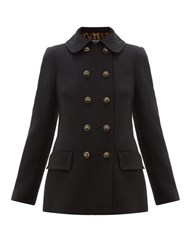 Dolce And Gabbana Double Breasted Pea Coat Black