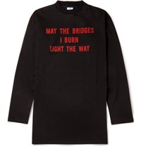 Vetements Oversized Printed Cotton Jersey T Shirt Black