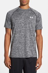 Under Armour Men's 'Ua Tech' Loose Fit Short Sleeve T Shirt Black Twist White