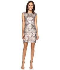 Rsvp Pleasant Pattern Dress W Sequin Pink Multi Women's Dress