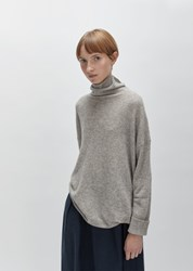Pas De Calais Wool Raccoon Turtleneck Sweater Beige