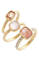 Women's Judith Jack Stone Stacking Rings Set Of 3