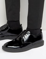 Zign Leather Derby Shoes Black