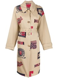 Tommy Hilfiger Letterman Trench Coat Neutrals