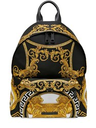 Versace Coupe Des Dieux Printed Nylon Backpack