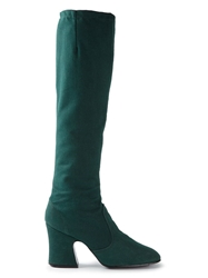 Biba Vintage Knee High Boots Green