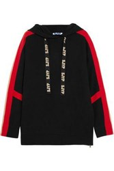Sjyp Knitted Hooded Sweater Black