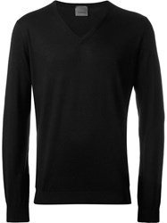 Laneus V Neck Sweater Black