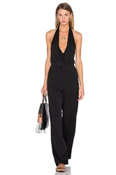 House Of Harlow X Revolve Coco Tie Front Jumpsuit Black