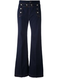 Red Valentino Sailor Style Jeans Blue