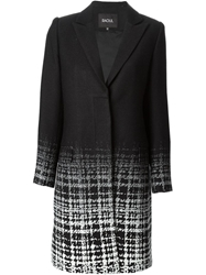 Raoul Ombre Check Pattern Coat Black