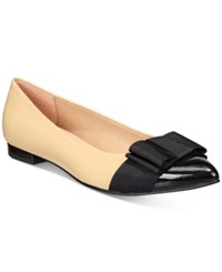 French Sole Fs Ny Onstage Embellished Pointed Toe Flats Women's Shoes Black Beige