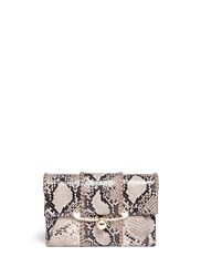 Stuart Weitzman 'Belle' Python Embossed Leather Clutch Animal Print