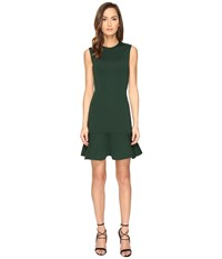 Mcq By Alexander Mcqueen Peplum Mini Dress Evergreen Women's Dress