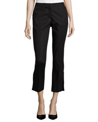 Nanette Nanette Lepore Cropped Trousers With Crochet Trim Black