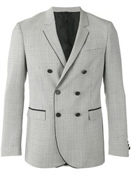 Tonello Patterned Double Breasted Jacket Black