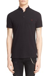 Men's The Kooples Pipe Trim Band Collar Polo