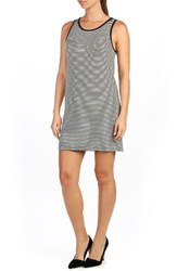 Paige Women's Mia Stripe Tank Dress Black White Stripe