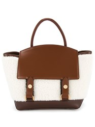 59898eb050 Sacai Fluffy Tote Bag White