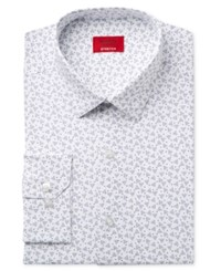 Alfani Men's Slim Fit Stretch Navy Party Print Dress Shirt Only At Macy's