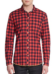 Arnold Zimberg Gingham Cotton Sportshirt Red