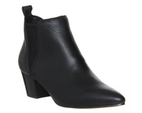 Office Coolcat Mod Chelsea Ankle Boot Black Leather