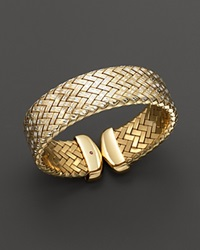 Roberto Coin 18K Yellow Gold Plated Sterling Silver Woven Cuff