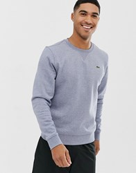 Lacoste Sport Logo Crew Neck Sweat In Black
