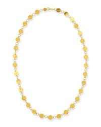 Gurhan Lush Classic 24K Gold Station Necklace 18 L
