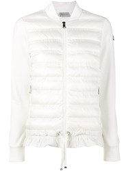 Moncler Quilted Down Jacket Women Cotton Feather Down Polyamide Polyester Xs White