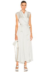 Maison Martin Margiela Wrap Dress In Abstract Gray Metallics Abstract Gray Metallics