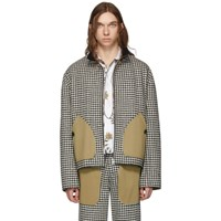 Loewe Black And White Houndstooth Patch Pockets Jacket