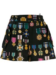 Mr And Mrs Italy Medal Pattern Shorts Black