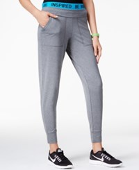 Energie Active Juniors' Tapered Jogger Pants Heather Grey