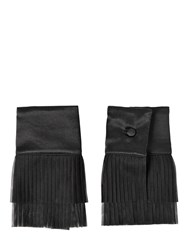 Dsquared Plisse Tulle And Satin Cuffs