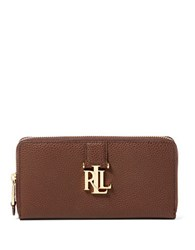 Lauren Ralph Lauren Carrington Zip Leather Wallet Brown